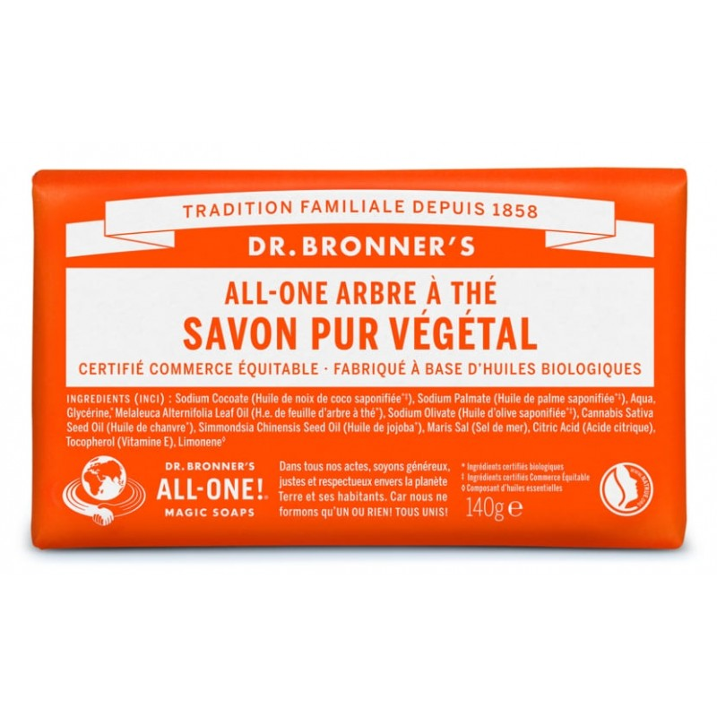 Pain de savon Tea Tree Dr Bronner's 140 g